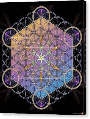 Metatrons Cube Canvas Print