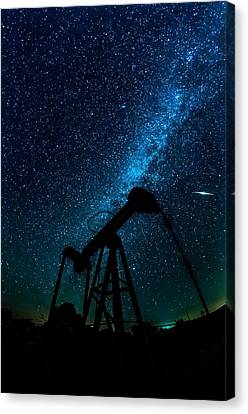 Meteor Above Grasshopper Canvas Print