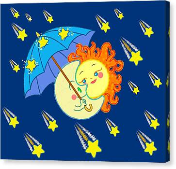 Meteor Shower Canvas Print