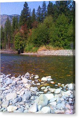 Methow River In Mazama Landscape Photography By Omashte Canvas Print