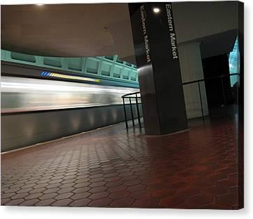 Metro Motion Canvas Print by Sean Owens