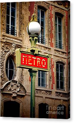 Metro Canvas Print by Olivier Le Queinec