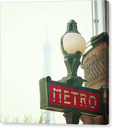 Metro Sing Paris Canvas Print by Gabriela D Costa