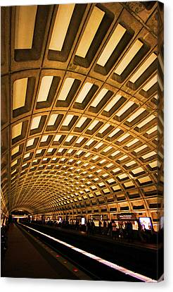 Tunnels Canvas Print - Metro Station by Mitch Cat
