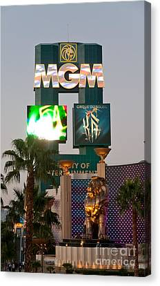 Metro The Mgm Lion Canvas Print by Andy Smy