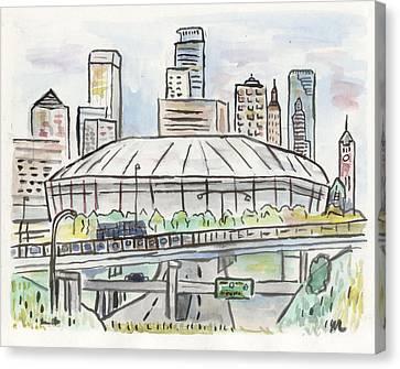 Metrodome Canvas Print by Matt Gaudian
