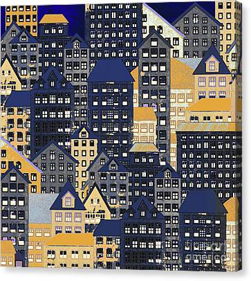 Rooftop Canvas Print - Metropolis 10 by Robert Todd