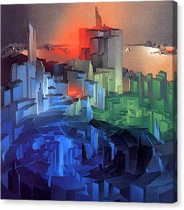 Metropolis 1975 Canvas Print by Glenn Bautista