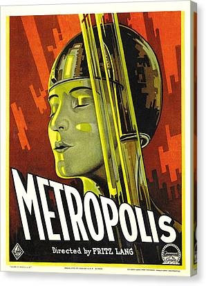 Horror Fantasy Movies Canvas Print - Metropolis, Brigitte Helm, 1927 by Everett