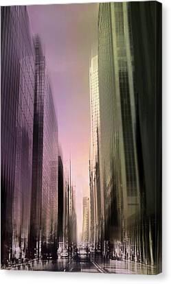 Metropolis Sunset Canvas Print by Jessica Jenney