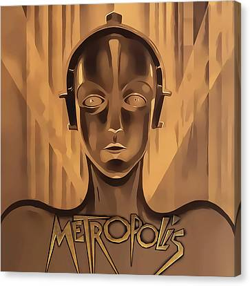 Canvas Print featuring the digital art Metropolis Two by Chuck Staley