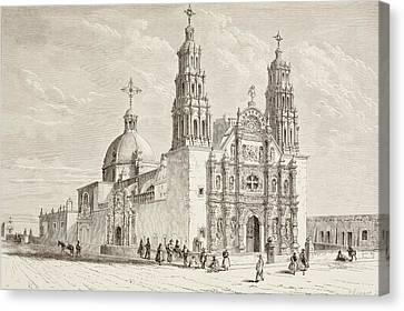 Metropolitan Cathedral In Plaza De Canvas Print by Vintage Design Pics
