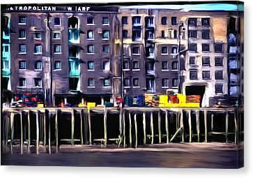 Metropolitan Wharf Canvas Print by Jim Proctor