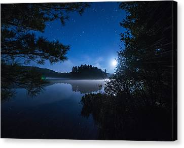 Mew Lake Moonset 2 Canvas Print by Cale Best