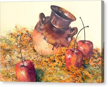 Mexican Apples 2 Canvas Print by DEVARAJ DanielFranco