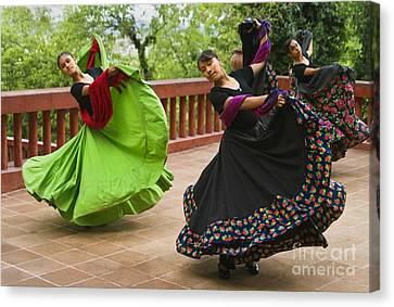 Mexican Dancers - San Miguel De Allende Canvas Print by Craig Lovell