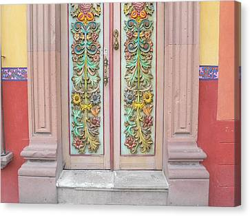 Mexican Doorway 3 Canvas Print by Francine Gourguechon