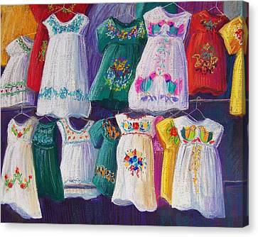 Folkloric Canvas Print - Mexican Dresses by Candy Mayer