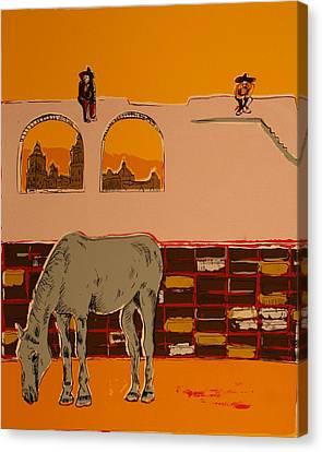 Mexican Landscape Canvas Print by Biagio Civale
