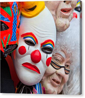 Mexican Masks Canvas Print by Art Block Collections