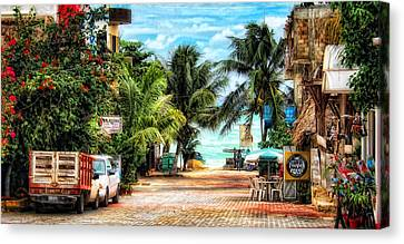 Mexican Side Street Canvas Print