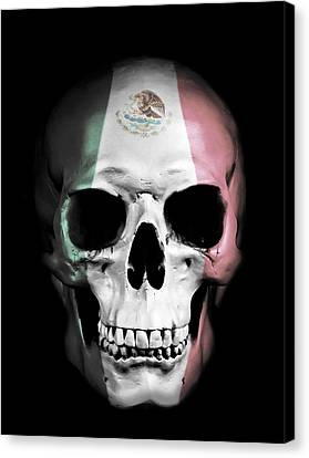 Canvas Print featuring the digital art Mexican Skull by Nicklas Gustafsson