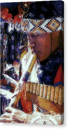 Canvas Print featuring the photograph Mexican Street Musician by Lori Seaman