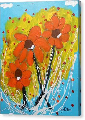 Mexican Sunflowers Flower Garden Canvas Print