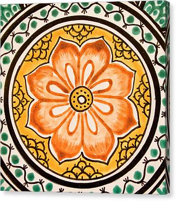 Mexican Tile Detail Canvas Print by Carol Leigh