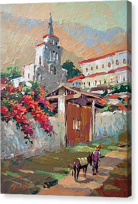 Mexican Village 1 Canvas Print by Dmitry Spiros