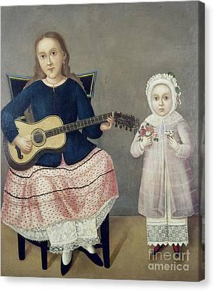 Mexico: Children, C1850 Canvas Print by Granger