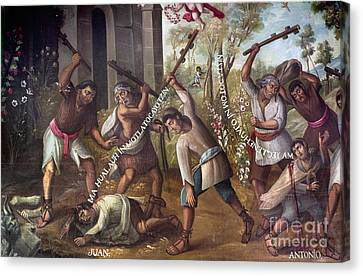 Mexico: Christian Martyrs Canvas Print by Granger
