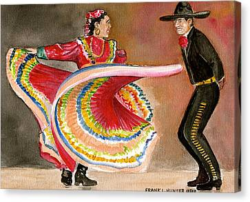 Mexico City Ballet Folklorico Canvas Print by Frank Hunter