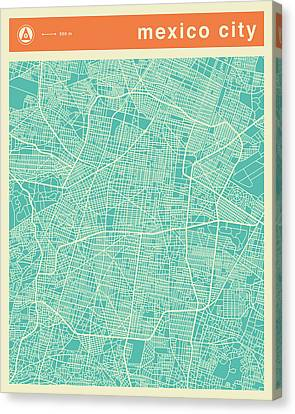 Mexico City Street Map Canvas Print