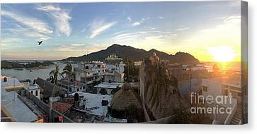 Canvas Print featuring the photograph Mexico Memories 3 by Victor K