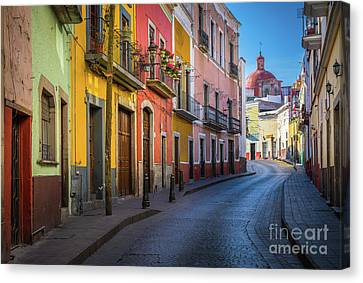 Mexico Street Canvas Print by Inge Johnsson
