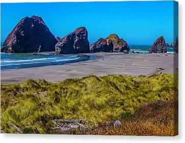 Beautiful Creek Canvas Print - Meyers Creek Beach by Garry Gay