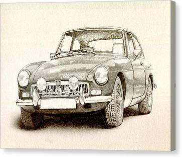 Mg Mgb Mkii Canvas Print