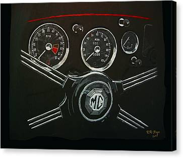 Canvas Print featuring the painting Mga Dash by Richard Le Page