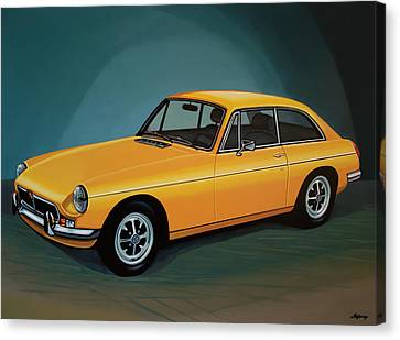 Headlight Canvas Print - Mgb Gt 1966 Painting  by Paul Meijering