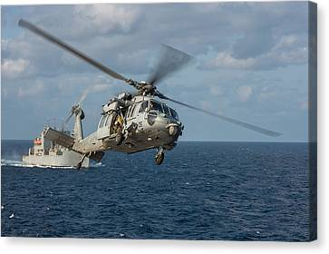 Mh-60s Sea Hawk Helicopter Canvas Print by Celestial Images