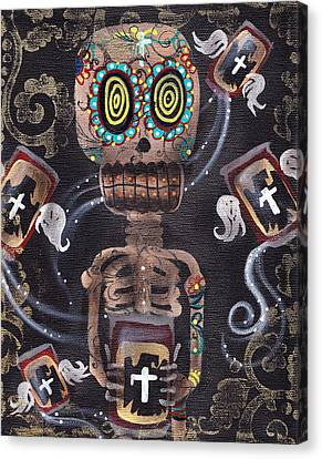 Mi Cerveza Canvas Print by  Abril Andrade Griffith