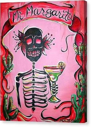 Dia De Los Muertos Canvas Print - Mi Margarita by Heather Calderon