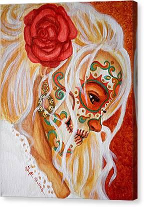 Mi Mente Me Lleva De Nuevo A Usted  Canvas Print by Al  Molina