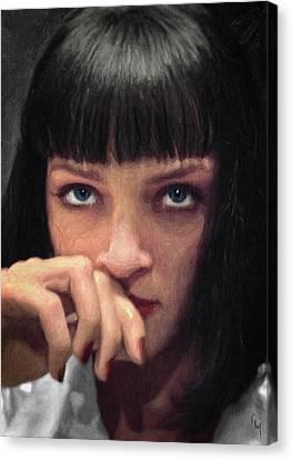 Mia Wallace - Pulp Fiction Canvas Print by Taylan Apukovska