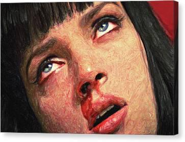 Death Proof Canvas Print - Mia Wallace by Taylan Apukovska