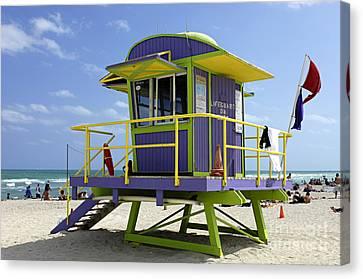 Miami Beach Canvas Print by Bob Christopher