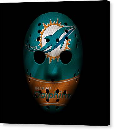Miami Dolphins War Mask 3 Canvas Print by Joe Hamilton