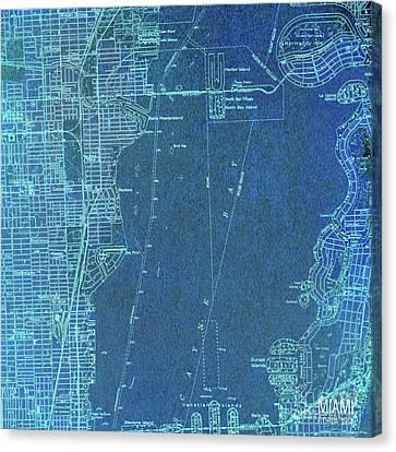 Miami Florida 1950 Canvas Print by Pablo Franchi