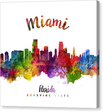 Miami Florida 23 Canvas Print by Aged Pixel